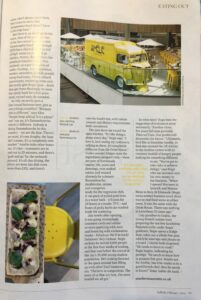 Suffolk Magazine article about Amelie Restaurant page 2