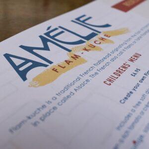 Children's Menu at Amelie Restaurant