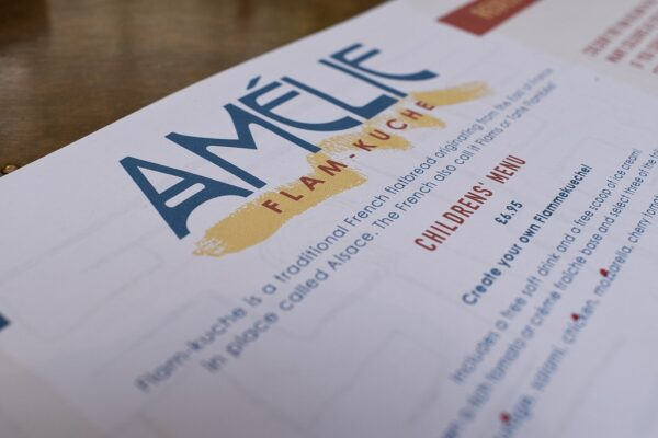 Children's Menu at Amelie Restaurant