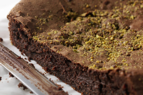 chocolate brownie cake from Amelie Restaurant