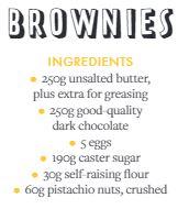 Brownies recipe ingredients list