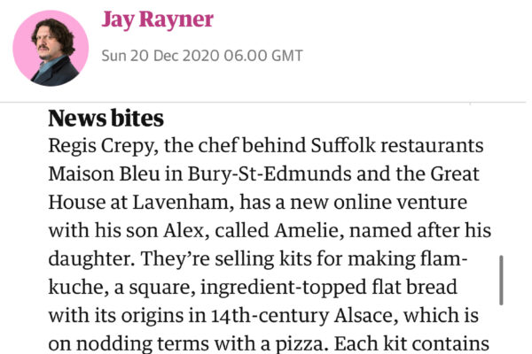 Article in The Gardian by Jay Rayner