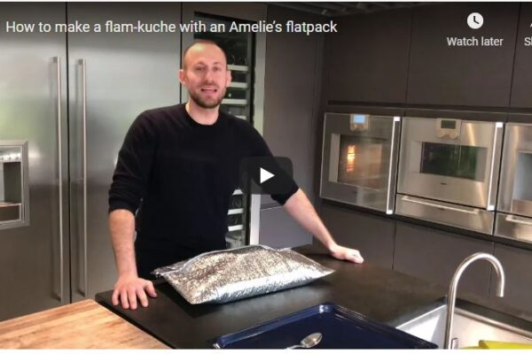 How to make a Flam-kuche with an Amelie's Flatpack