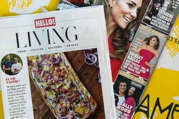 Hello Magazine featuring Amelie Restaurants