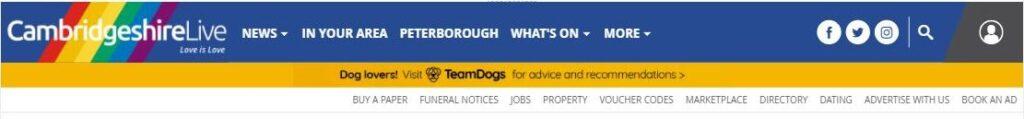 cambridgeshire live news banner
